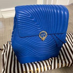 Henri Bendel - Quilted royal blue back pack NEW